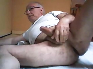 daddy Titillating grandpa wanking amateur