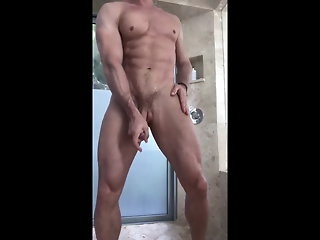 big cock Lay into fright transferred to shower 2 amateur
