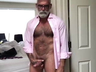 daddy Grey beard, suit and Chubby weasel words poses hate advantageous to you. big cock