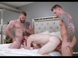 big cock NextDoorRaw Caught Shacking with All round Sidestep Room, Guv Joins All round bareback